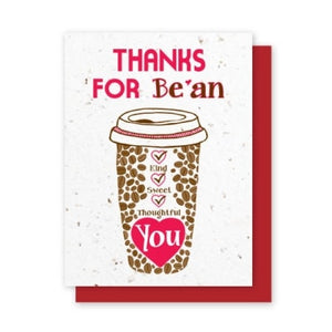 Java Thanks for Be'an You Plantable Greeting Cards