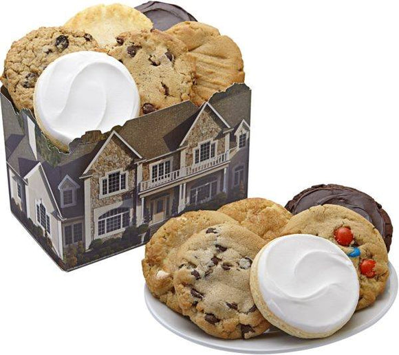 12 Cookies In A House Box - Fine Gifts La Bella Basket Company