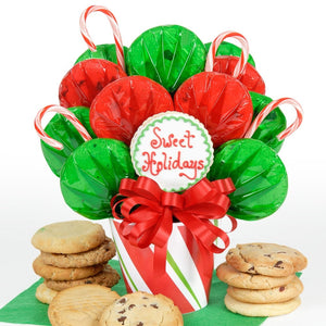 Candy Cane Cookie Bouquet