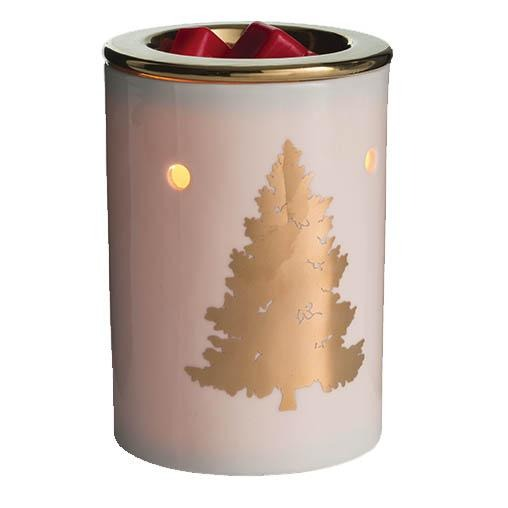 Using this decorative Golden Fir tart warmer with our wax melts is a great way to freshen your home without using an open flame.