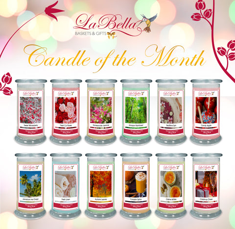 Candle of The Month Club - Fine Gifts La Bella Basket Company