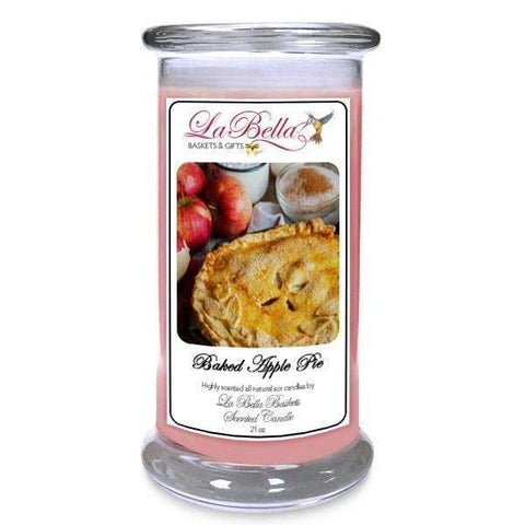 Baked Apple Pie Scented Candle - Fine Gifts La Bella Basket Company