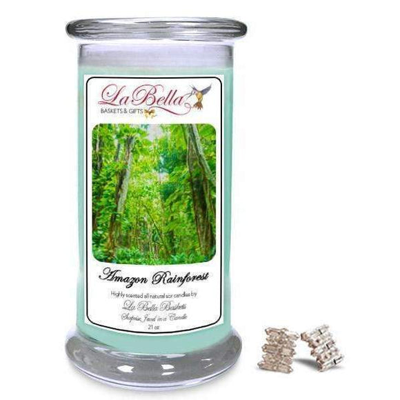 Amazon Rain Forest Jewelry Candles - Fine Gifts La Bella Basket Company