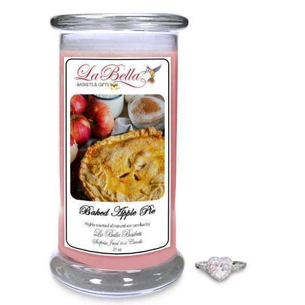 Baked Apple Pie Jewelry Candles - Fine Gifts La Bella Basket Company