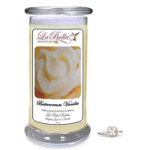 Butter Cream Vanilla Jewelry Candle - Fine Gifts La Bella Basket Company