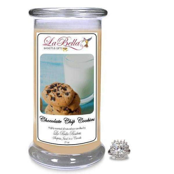 Chocolate Chip Cookies Jewelry Candle - Fine Gifts La Bella Basket Company