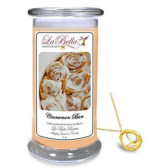 Cinnamon Bun Jewelry Candles - Fine Gifts La Bella Basket Company