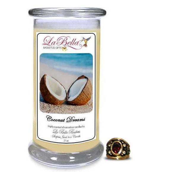 Coconut Dreams SJ Jewelry Candles - Fine Gifts La Bella Basket Company