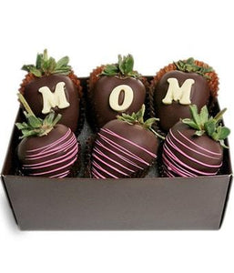 Mom 6 Chocolate Covered Strawberries - Fine Gifts La Bella Basket Company