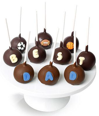 Dads Chocolate Cake Pops - Fine Gifts La Bella Basket Company