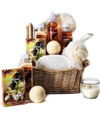 Vanilla Passion Spa Gift - Fine Gifts La Bella Basket Company