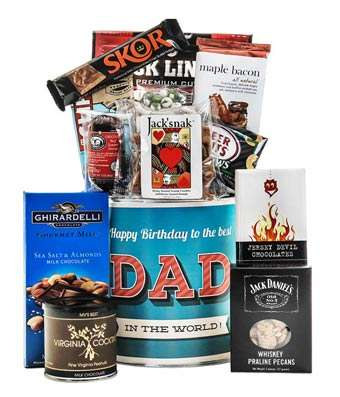 Happy Birthday Daddio - Fine Gifts La Bella Basket Company