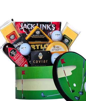 Golfer's Gift Basket - Next Day Delivery - Fine Gifts La Bella Basket Company