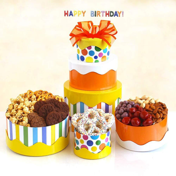 Birthday Cake Gift Box Tower