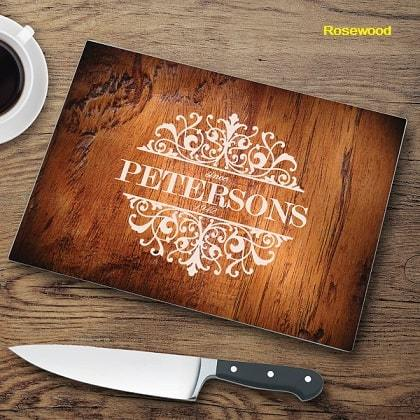 Wood Look Background Glass Cutting Boards
