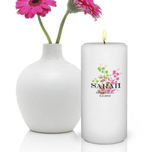 Graceful Nature Round Personalized Candles