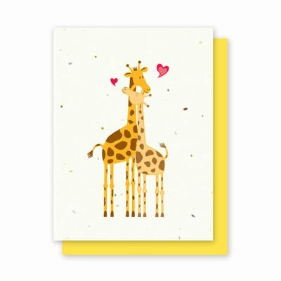 Giraffes in Love - 4 Pack - Fine Gifts La Bella Basket Company