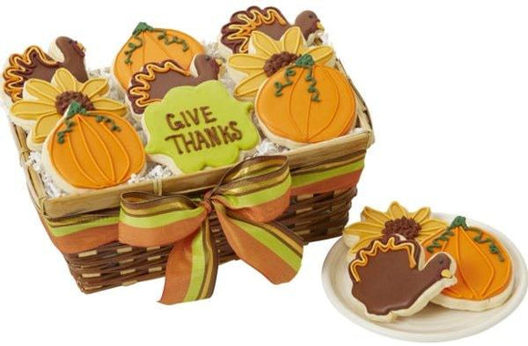 Give Thanks Cookies - Fine Gifts La Bella Basket Company