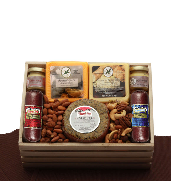 Premium Selections Meat and Cheese Gift Crate