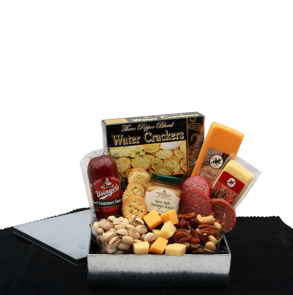 Gourmet Sausage and Cheese Snack Sampler