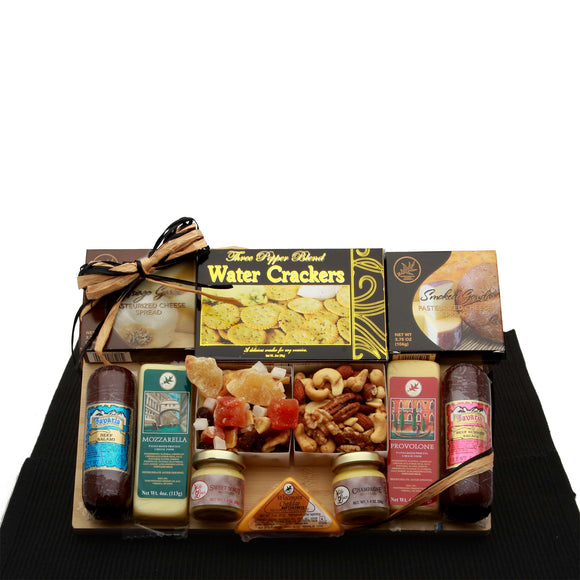 Savory Selections Meat and Cheese Gourmet Gift Board - Fine Gifts La Bella Basket Company