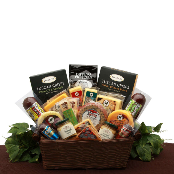 Ultimate Meat and Cheese Sampler - Fine Gifts La Bella Basket Company