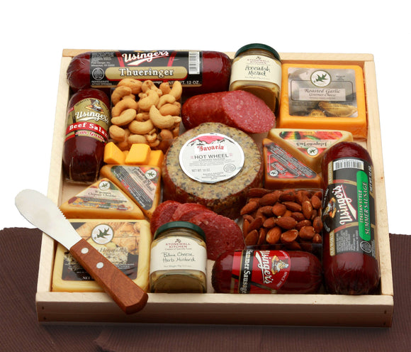 Deluxe Meat and Cheese Lovers Sampler Tray