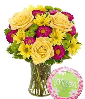 It's a Fine Day for Mom Flower Bouquet - Fine Gifts La Bella Basket Company