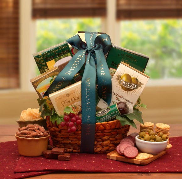 Congrats To New Home Gourmet Gift Basket - Fine Gifts La Bella Basket Company