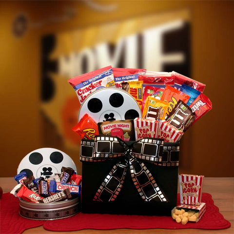 Movie Fest Gift Box with $10 Red Box Card - Fine Gifts La Bella Basket Company