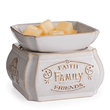 Faith, Family, Friends 2-in-1 Classic Fragrance Candle Warmer - Fine Gifts La Bella Basket Company