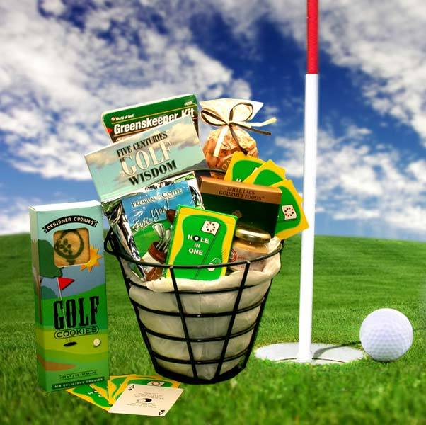 Golfers Caddy Gift Basket