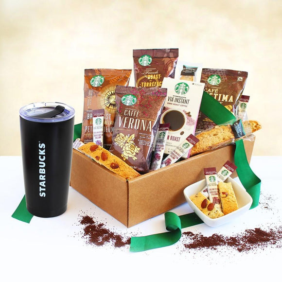 Starbucks Holiday Go Box - Fine Gifts La Bella Basket Company