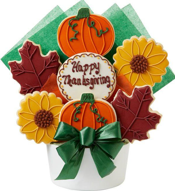Thanksgiving 7 Cookie Bouquet