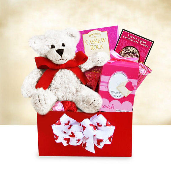Love Bear Hug Valentine Box - Fine Gifts La Bella Basket Company