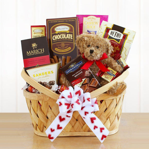 Bearing Chocolate Gifts Basket - Fine Gifts La Bella Basket Company