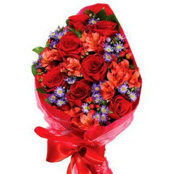 Hand Tied Mix Flower Bouquet - Fine Gifts La Bella Basket Company