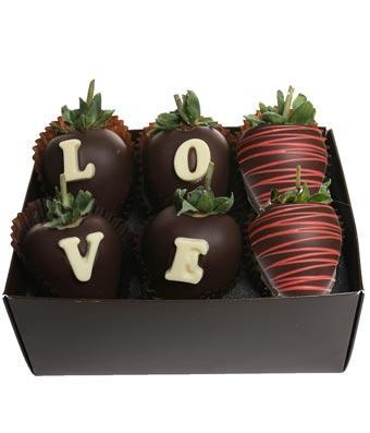 Love Chocolate Covered Berry Box - Fine Gifts La Bella Basket Company