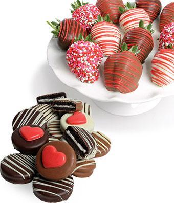Chocolate Covered Love Oreos n Strawberries - Fine Gifts La Bella Basket Company