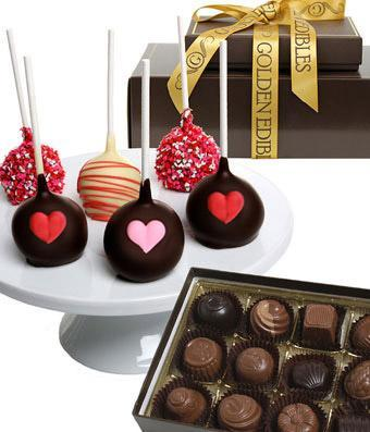 Chocolate Covered Love Pops and Truffles - Fine Gifts La Bella Basket Company