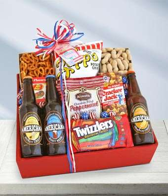 American Snack and Soda - Fine Gifts La Bella Basket Company