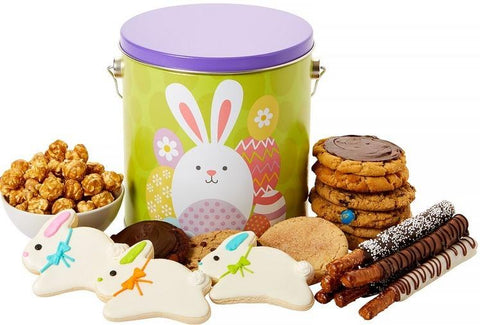 Bunny Gourmet Cookie Tin - Fine Gifts La Bella Basket Company