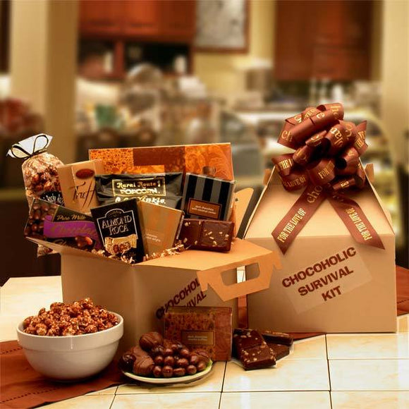The Chocoholic's Survival Kit - Fine Gifts La Bella Basket Company