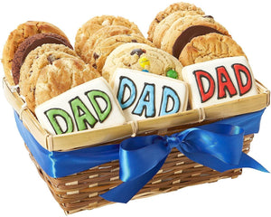Dad Cookie Basket - Fine Gifts La Bella Basket Company