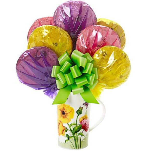 Floral Mug Cookie Bouquet - Fine Gifts La Bella Basket Company