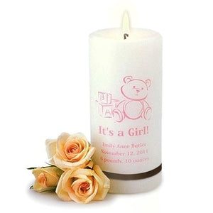 It's A Girl Candle - Fine Gifts La Bella Basket Company