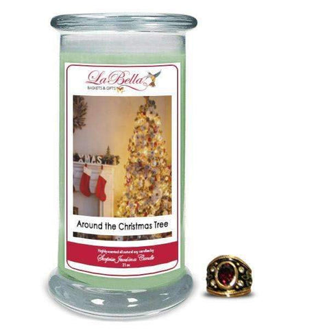 Around the Christmas Tree Jewelry Candles - Fine Gifts La Bella Basket Company