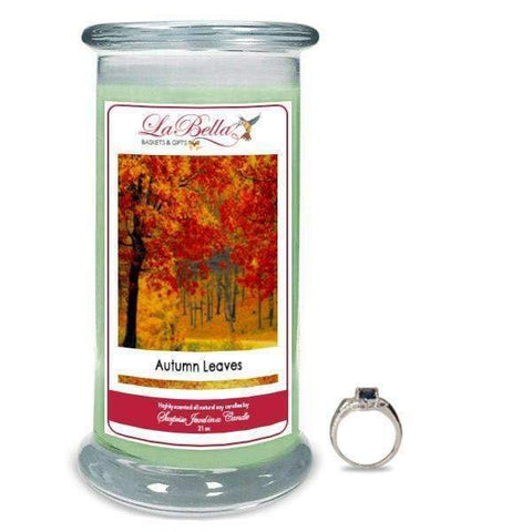 Autumn Leaves Jewelry Candles - Fine Gifts La Bella Basket Company