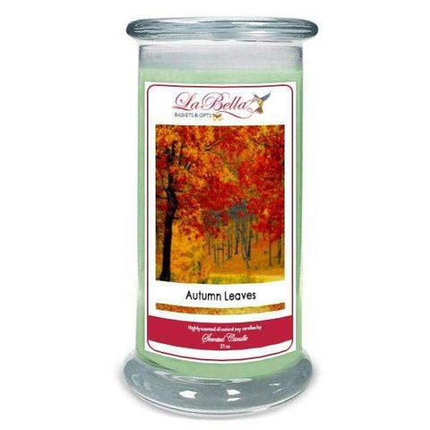 Autumn Leaves Scented Soy Candle - Fine Gifts La Bella Basket Company