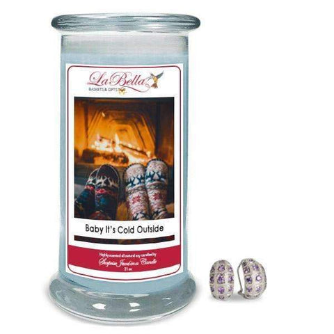 Baby it's Cold Outside Jewelry Candle - Fine Gifts La Bella Basket Company